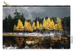 Geese Over Tamarack Carry-all Pouch