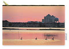 Geese Swimming On Isle Of Wight Bay Carry-all Pouch by Robert Banach
