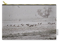 Geese Walking In The Snow Carry-all Pouch