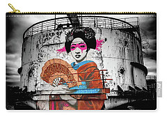 Carry-all Pouch featuring the photograph Geisha Graffiti by Adrian Evans