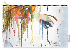Geisha Soul Watercolor Painting Carry-all Pouch