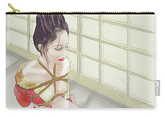 Carry-all Pouch featuring the mixed media Geisha by TortureLord Art