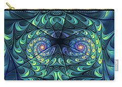 Carry-all Pouch featuring the digital art Gemini by Jutta Maria Pusl