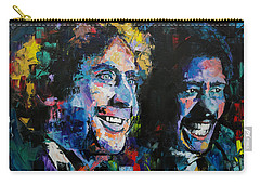 Carry-all Pouch featuring the painting Gene Wilder And Richard Pryor by Richard Day