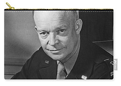Carry-all Pouch featuring the photograph General Dwight Eisenhower by War Is Hell Store