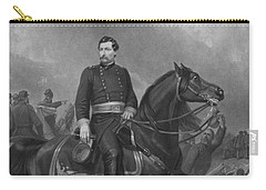 Carry-all Pouch featuring the mixed media General George Mcclellan On Horseback by War Is Hell Store