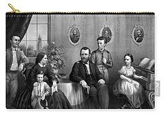 Carry-all Pouch featuring the mixed media General Grant And His Family by War Is Hell Store