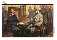 General Grant Meets Robert E Lee  Carry-all Pouch
