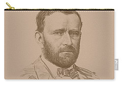 Carry-all Pouch featuring the mixed media General Ulysses S Grant by War Is Hell Store