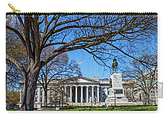 Carry-all Pouch featuring the photograph General William Tecumseh Sherman Monument by Jean Haynes