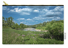 Carry-all Pouch featuring the photograph Genesee River by Guy Whiteley