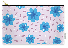 Gentle Blue Flowers Carry-all Pouch