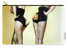 Carry-all Pouch featuring the painting Gentlemen Prefer Blondes by R Muirhead Art