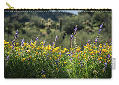 Carry-all Pouch featuring the photograph Gently Swaying In The Wind  by Saija Lehtonen