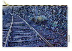 Carry-all Pouch featuring the photograph Gently Winding Tracks by Jeff Swan
