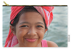 Carry-all Pouch featuring the photograph Genuine Smiles Are Simple by Jez C Self