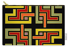 Geo Pattern 4 - Chuck Staley Carry-all Pouch by Chuck Staley