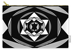 'geometric 1' Carry-all Pouch by Linda Velasquez