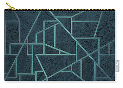 Geometric Abstraction In Blue Carry-all Pouch