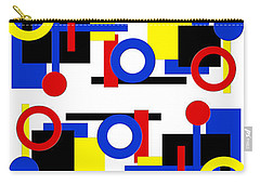 Carry-all Pouch featuring the digital art Geometric Shapes Abstract V 1 by Andee Design
