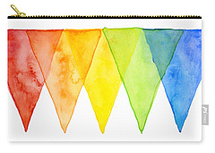 Geometric Watercolor Pattern Rainbow Triangles Carry-all Pouch
