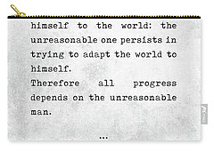 George Bernard Shaw Quotes - Man And Superman - Literary Quotes - Book Lover Gifts - Typewriter Art Carry-all Pouch