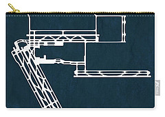 George Bush Intercontinental Airport In Houston Usa Runway Silho Carry-all Pouch