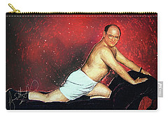 Carry-all Pouch featuring the digital art George Costanza by Taylan Apukovska
