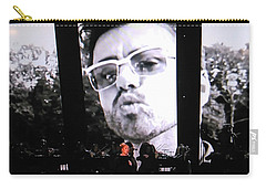 George Michael Sends A Kiss Carry-all Pouch by Toni Hopper