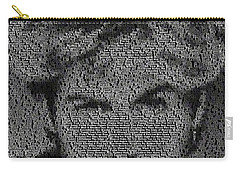 George Michael Song List Mosaic Carry-all Pouch by Paul Van Scott