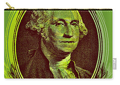Carry-all Pouch featuring the digital art George Washington - $1 Bill by Jean luc Comperat