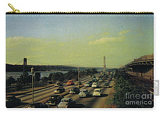 Carry-all Pouch featuring the photograph George Washington Bridge  by Cole Thompson