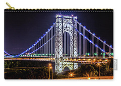 Carry-all Pouch featuring the photograph George Washington Bridge - Memorial Day 2013 by Theodore Jones