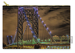 Carry-all Pouch featuring the photograph George Washington Bridge by Theodore Jones