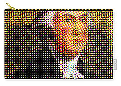George Washington In Dots  Carry-all Pouch by Paulo Guimaraes