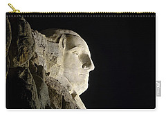George Washington Profile At Night Carry-all Pouch by David Lawson