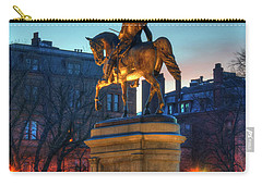 Carry-all Pouch featuring the photograph George Washington Statue In Boston Public Garden by Joann Vitali