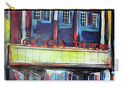 Carry-all Pouch featuring the painting Georgia Theatre by John Jr Gholson