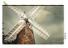 Carry-all Pouch featuring the photograph Georgian Stone Windmill  by Jorgo Photography - Wall Art Gallery