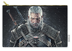 Carry-all Pouch featuring the digital art Geralt Of Rivia - Witcher  by Taylan Apukovska