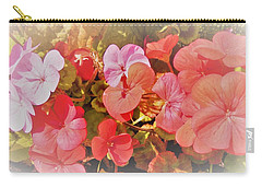 Geranium Carry-all Pouch by Ann Johndro-Collins