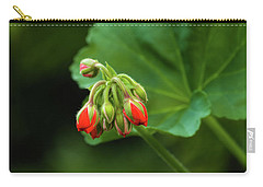 Carry-all Pouch featuring the photograph Geranium Buds by Cristina Stefan