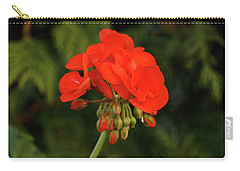 Carry-all Pouch featuring the photograph Geranium  by Cristina Stefan