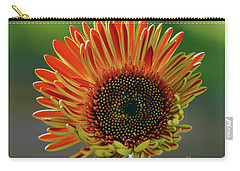 Carry-all Pouch featuring the photograph Gerber Bud by Elvira Ladocki