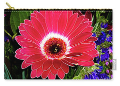Gerbera Bella Carry-all Pouch by Mariola Bitner