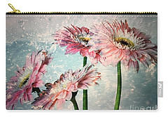 Gerbera Daisies With A Splash Carry-all Pouch