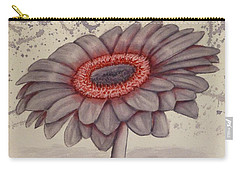 Gerbera Flower Gone Grey Carry-all Pouch