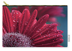 Carry-all Pouch featuring the photograph Gerbera Red Jewel by Sharon Mau