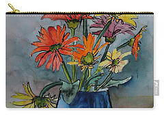 Gerberas In A Blue Pot Carry-all Pouch