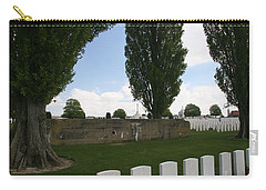 Carry-all Pouch featuring the photograph German Bunker At Tyne Cot Cemetery by Travel Pics